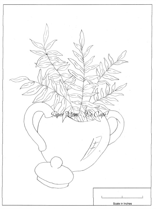 Vintage Workbasket fern in pot pattern from page 78