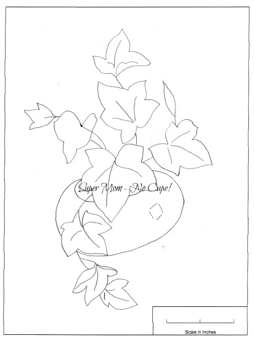 Vintage pattern for an ivy in a pot from Workbasket pattern page 78