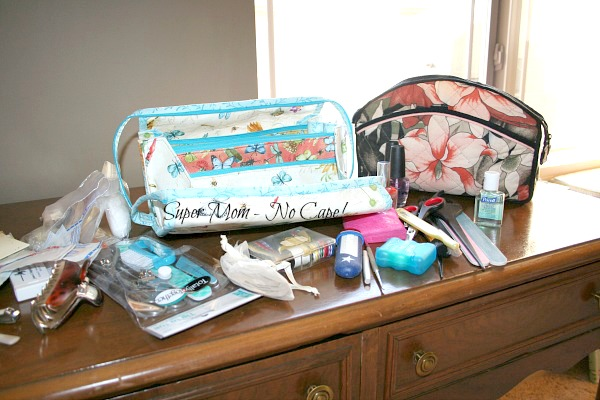 Contents of old make-up bag