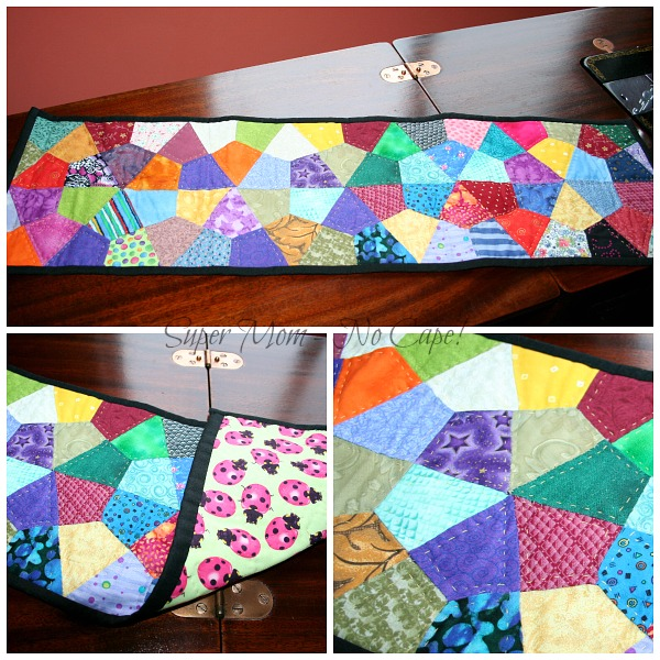 Hand Pieced and Quilted table runner