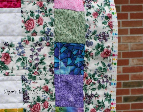 Binding on Trellis Quilt