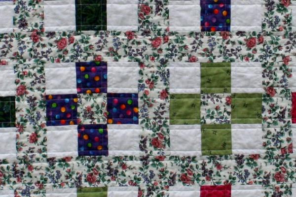 Close up of Trellis Quilt