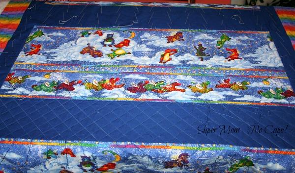 Center Section of the Flying Zebra quilt