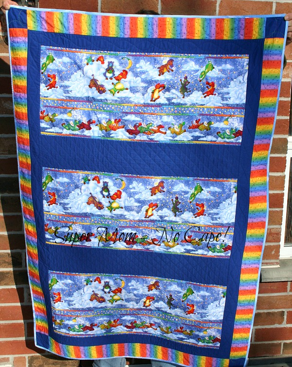 Front of the Flying Zebra Quilt
