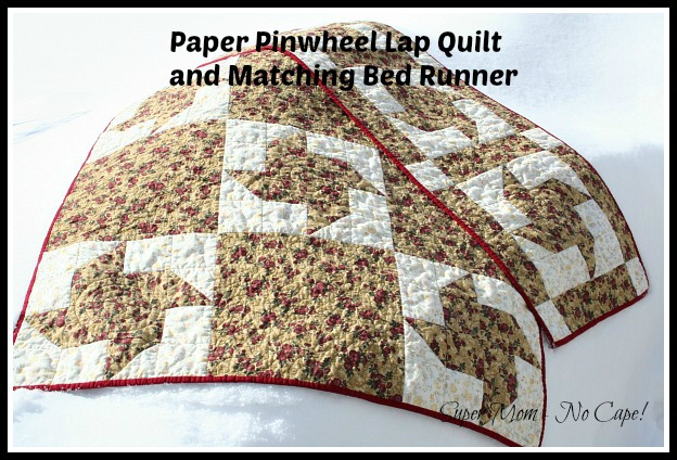 Paper Pinwheel Lap Quilt and Matching Bed Runner