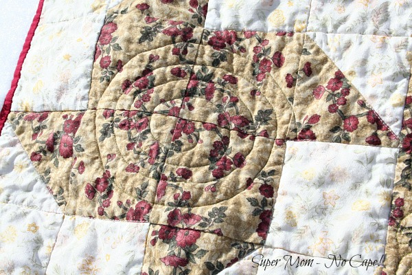 Sprial Quilting on the Paper Pinwheel blocks