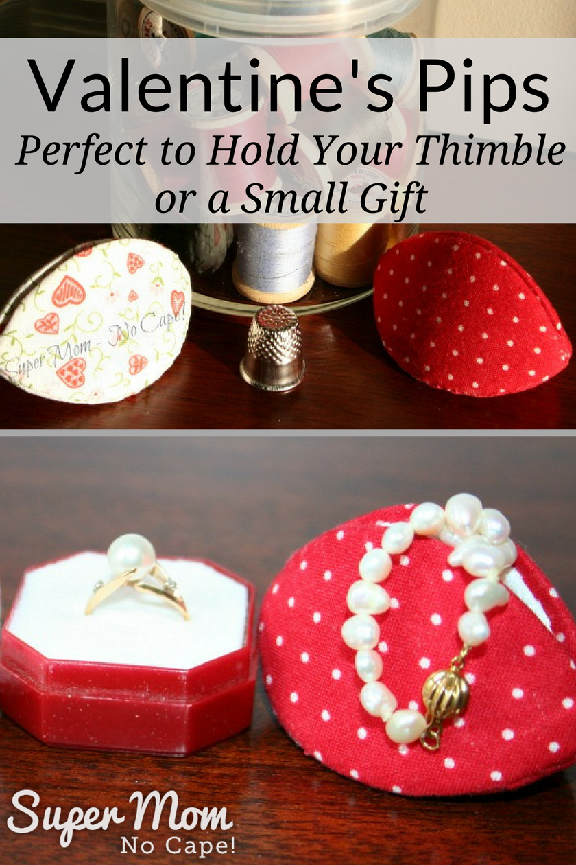 Valentine's Pips - Perfect to Hold Your Thimble or a Small Gift