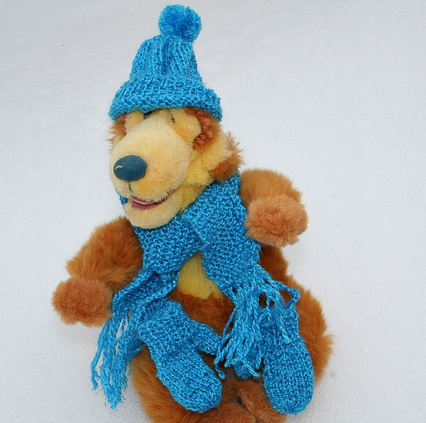 Bear Wearing Blue Elven Winter Wear