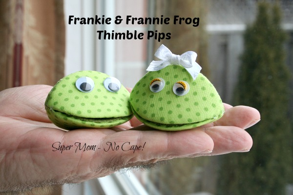 Frankie and Frannie Frog Thimble Pips