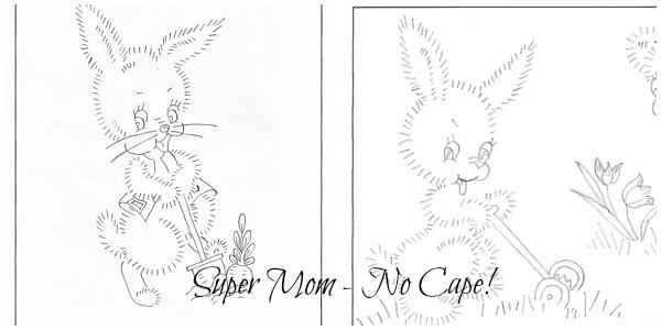 Large Vintage Easter Bunny Patterns