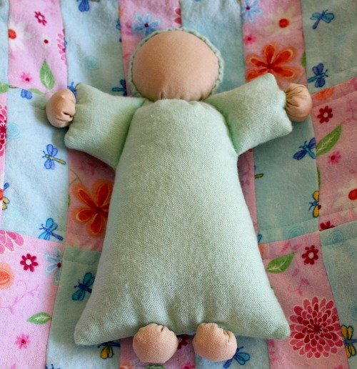 Photo of Abigail Doll used in the pattern