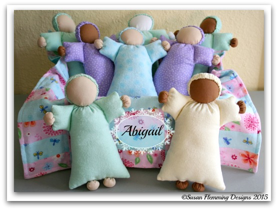 Cover photo of my Abigail doll pattern.
