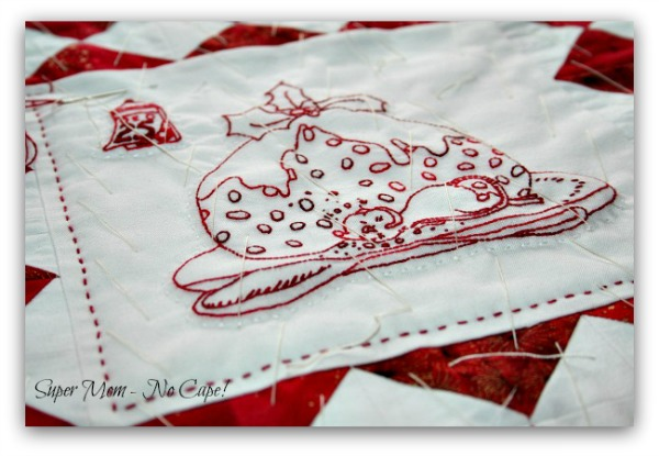 Hand Quilting with Perle Cotton really makes the quilting stand out