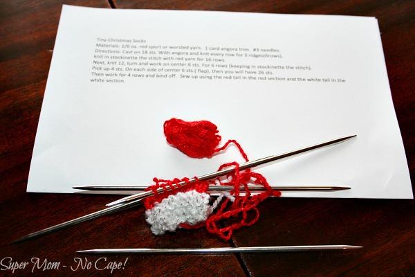 Knitting Tiny Christmas Stockings