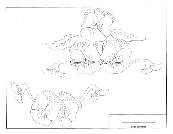 Vintage Workbasket Pattern for Pansies from Page 77