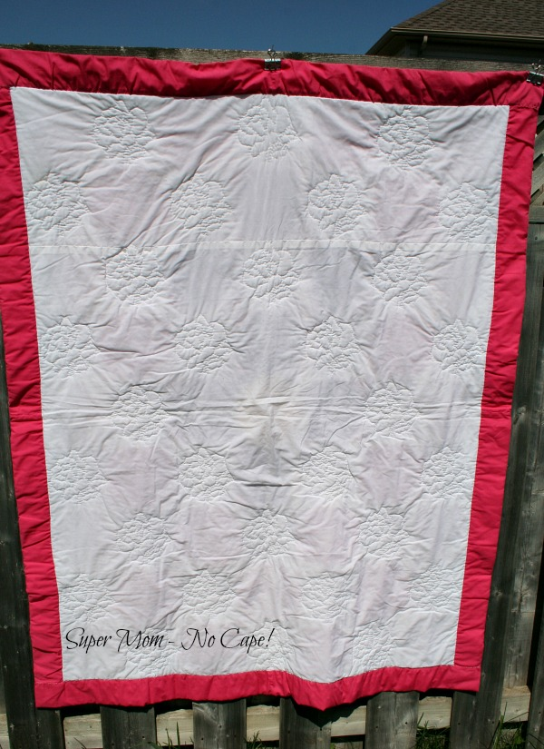 Back of the 50th Anniversary Quilt