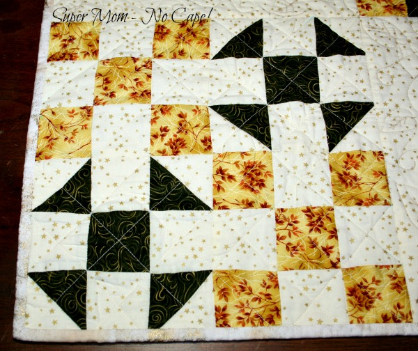 Block with Cross Hatch quilting