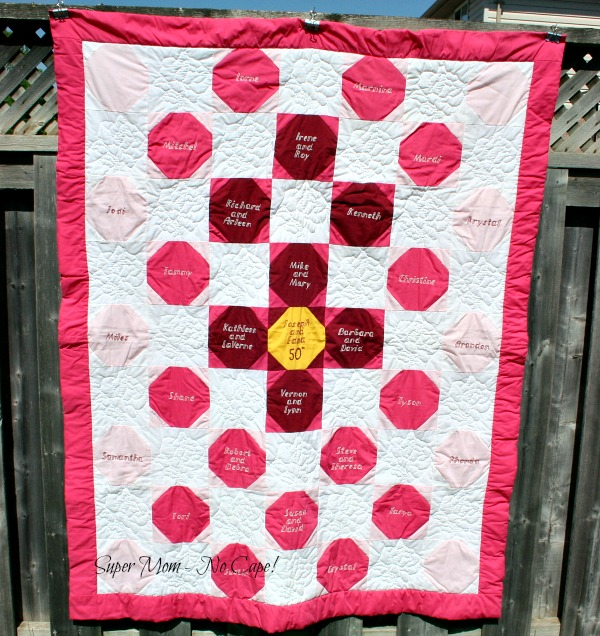 Grandma's and Grandpa's Fiftieth Wedding Anniversary Quilt