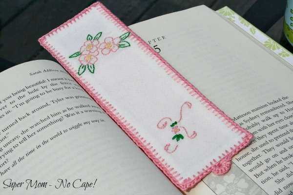 Mom's Embroidered Monogrammed Bookmark
