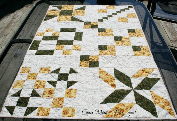 Sample Table Runner on patio table