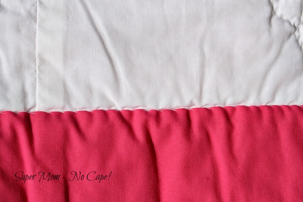 Wide Border slip stitched to the back