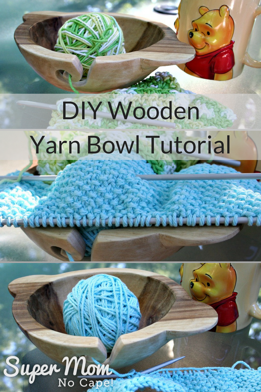 DIY Wooden Yarn Bowl Tutorial with easy Step by Step Instructions