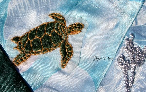 Embroidered Hawaiian Green Sea Turtle