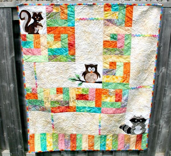 Forest Friends quilt finished