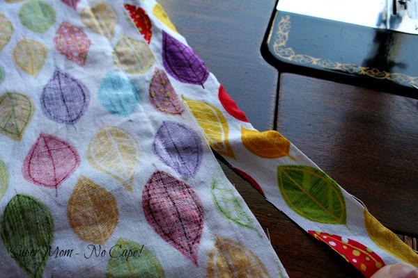 Trim off excess fabric