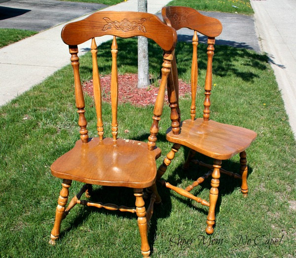 Two chairs found on the curb