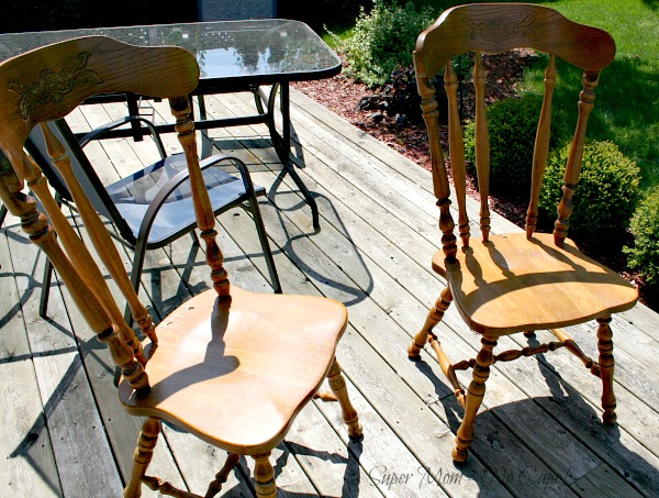 Two chairs before transformation