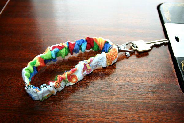Fun Fabric Keychain Wristlet