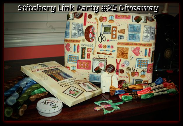 Vintage Embroidery Monday & Stitchery Link Party #25 Giveaway