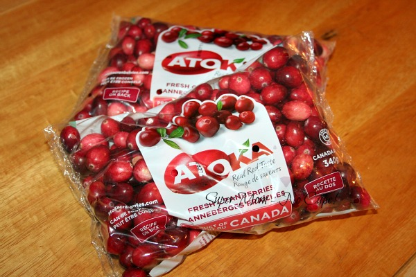 Fresh cranberries for making sauce