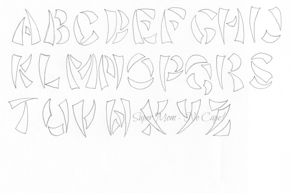 Vintage Workbasket embroidery pattern for Tusk Alphabet from page #89