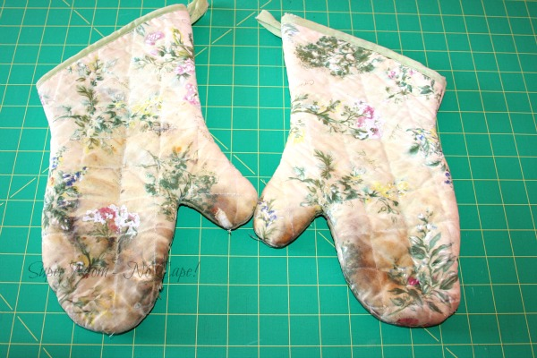 Shabby Old Oven Mitts
