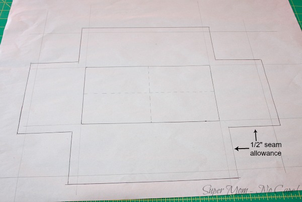 13. Add the seam allowance to the sides and ends - 2
