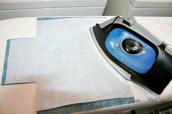 28. Fuse interfacing to wrong side of fabric
