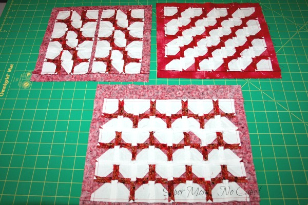 Backs of the turtle quilts