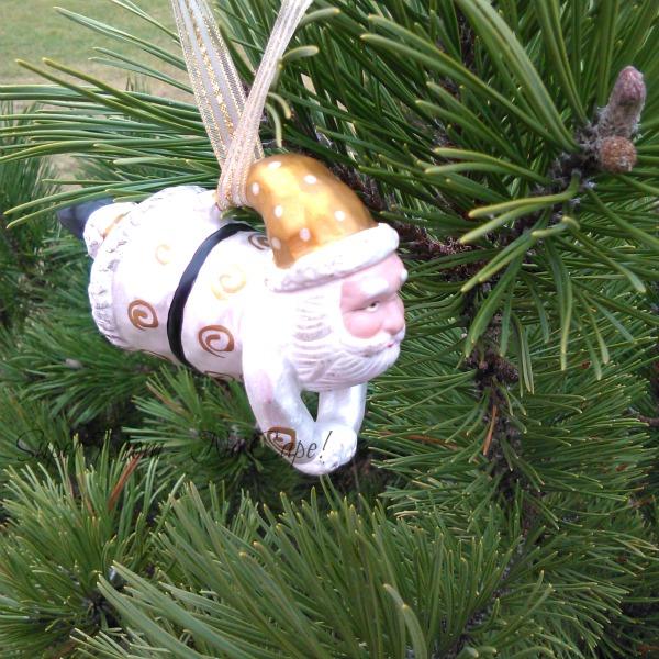 Flying Santa Ornament for Sammie