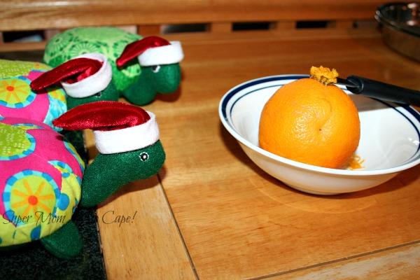 Grating the orange peel