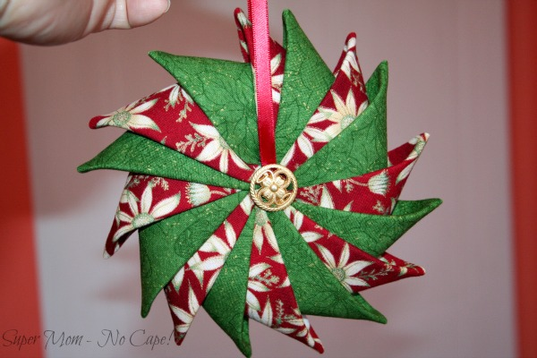Prairie Point Star Ornament I made for Debbie