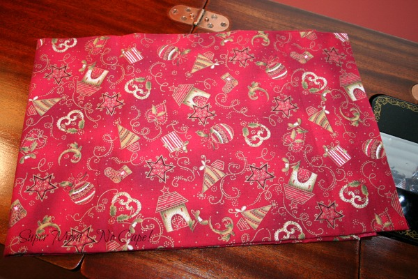 Red fabric used to make Sammie's ornament