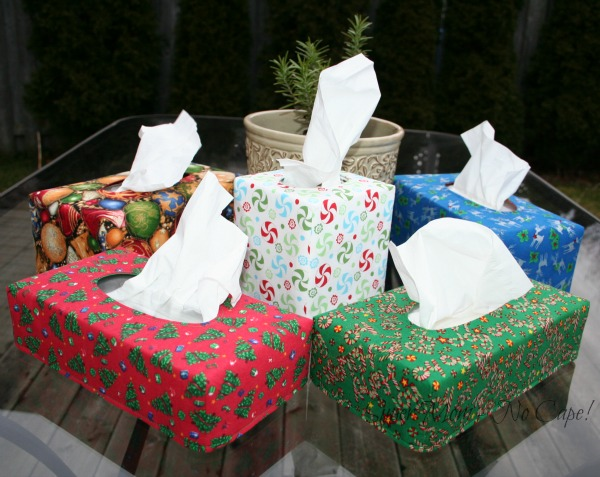 Reversible Tissue Box Covers in different sizes