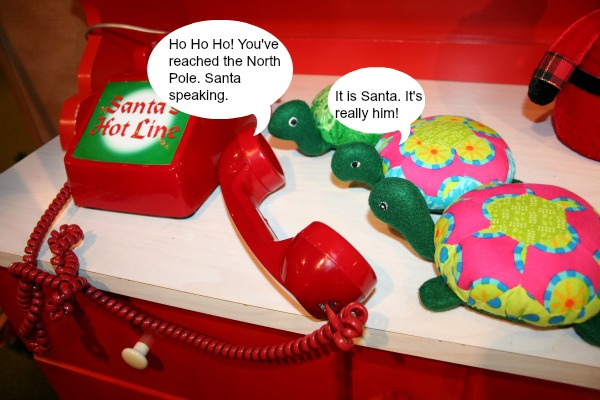The Hexie Turtles call Santa on the Santa Hot Line