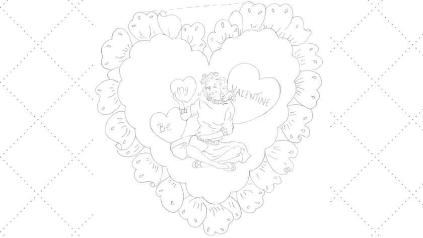 Be My Valentine Embroider Pattern