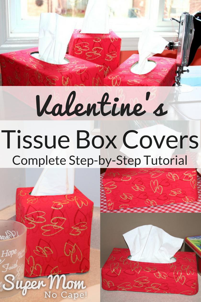 Reversible Valentine's Tissue Box Cover