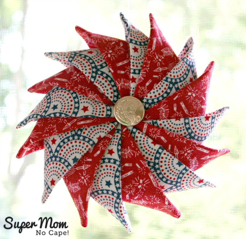 Fireworks & Stars Patriotic Prairie Point Star Ornament