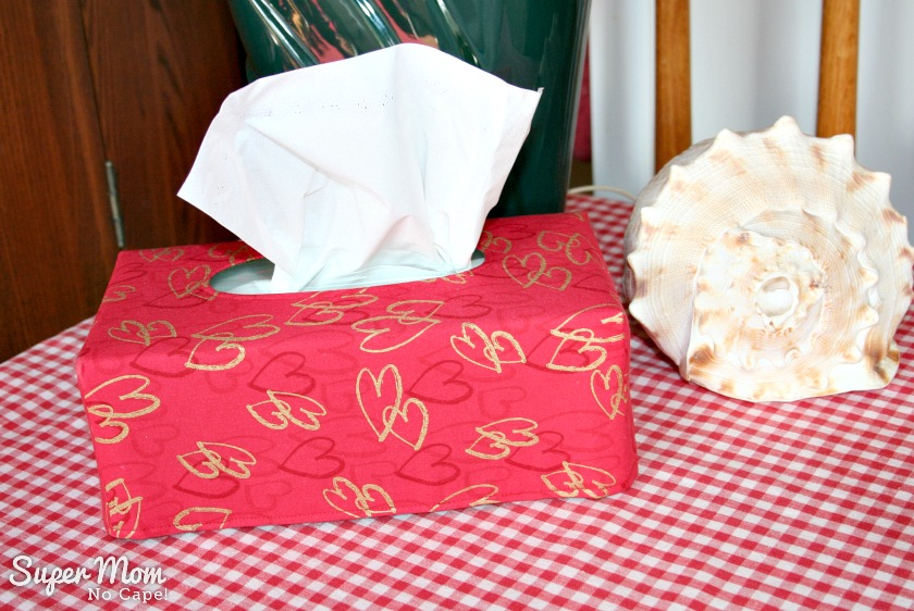 Large Valentine's Tissue Box Cover