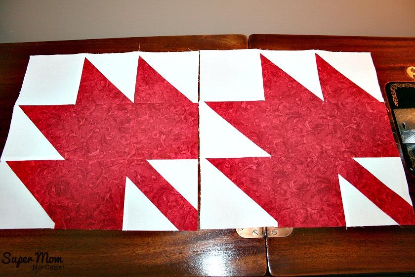 Maple Leaf Blocks After Pressing